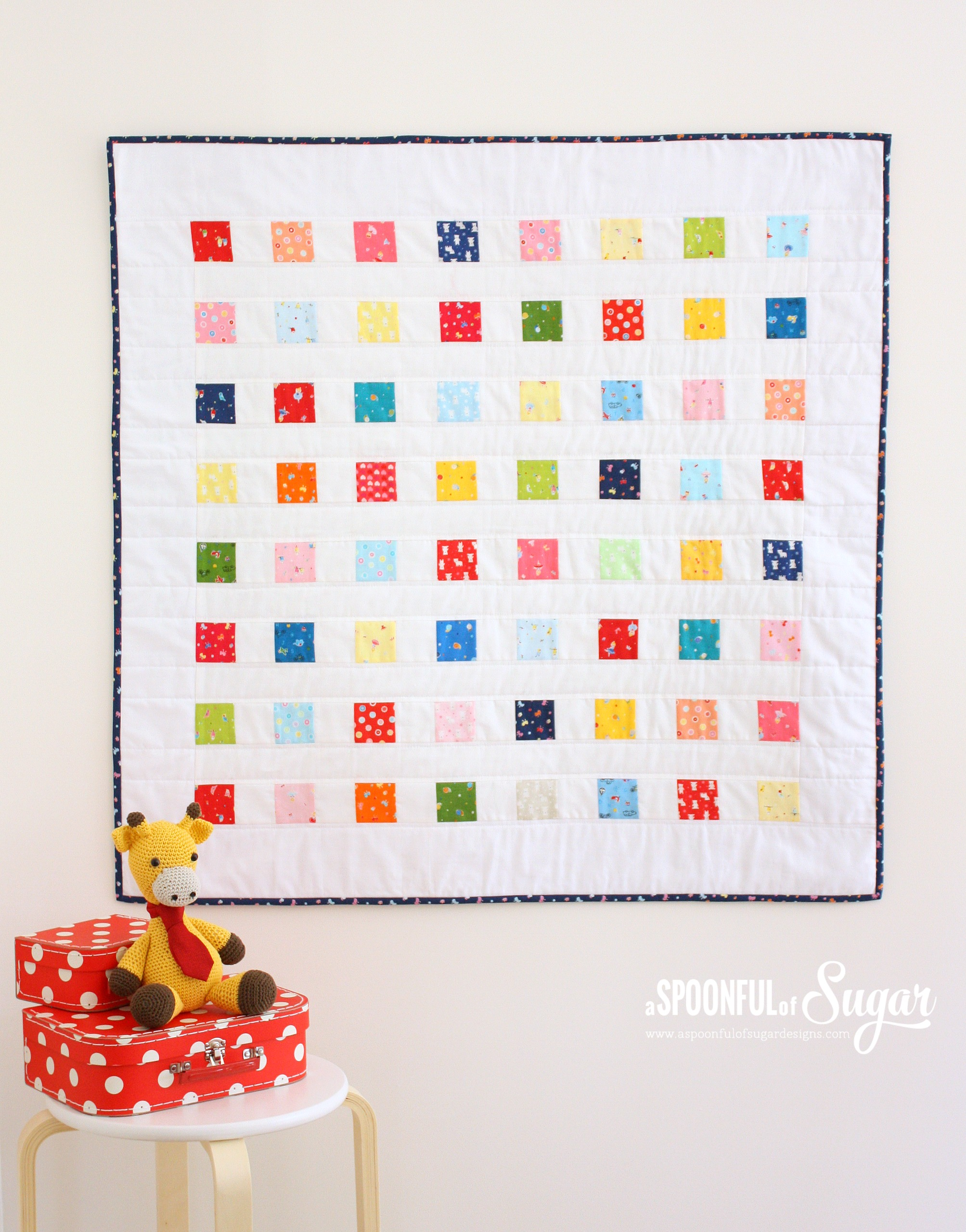 Crayon Box Baby Quilt - Top Sewing Tutorials from 2016 - A Spoonful of Sugar - www.aspoonfulofsugardesigns.com