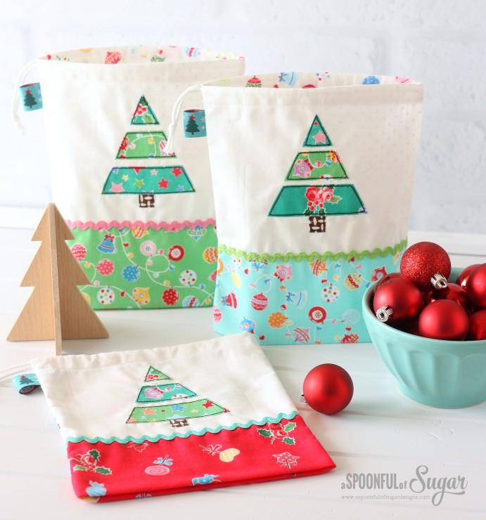 Christmas Treat Bags made using Flower Sugar Holiday