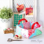 Colourful Patchwork Basket and Bags Blog Hop