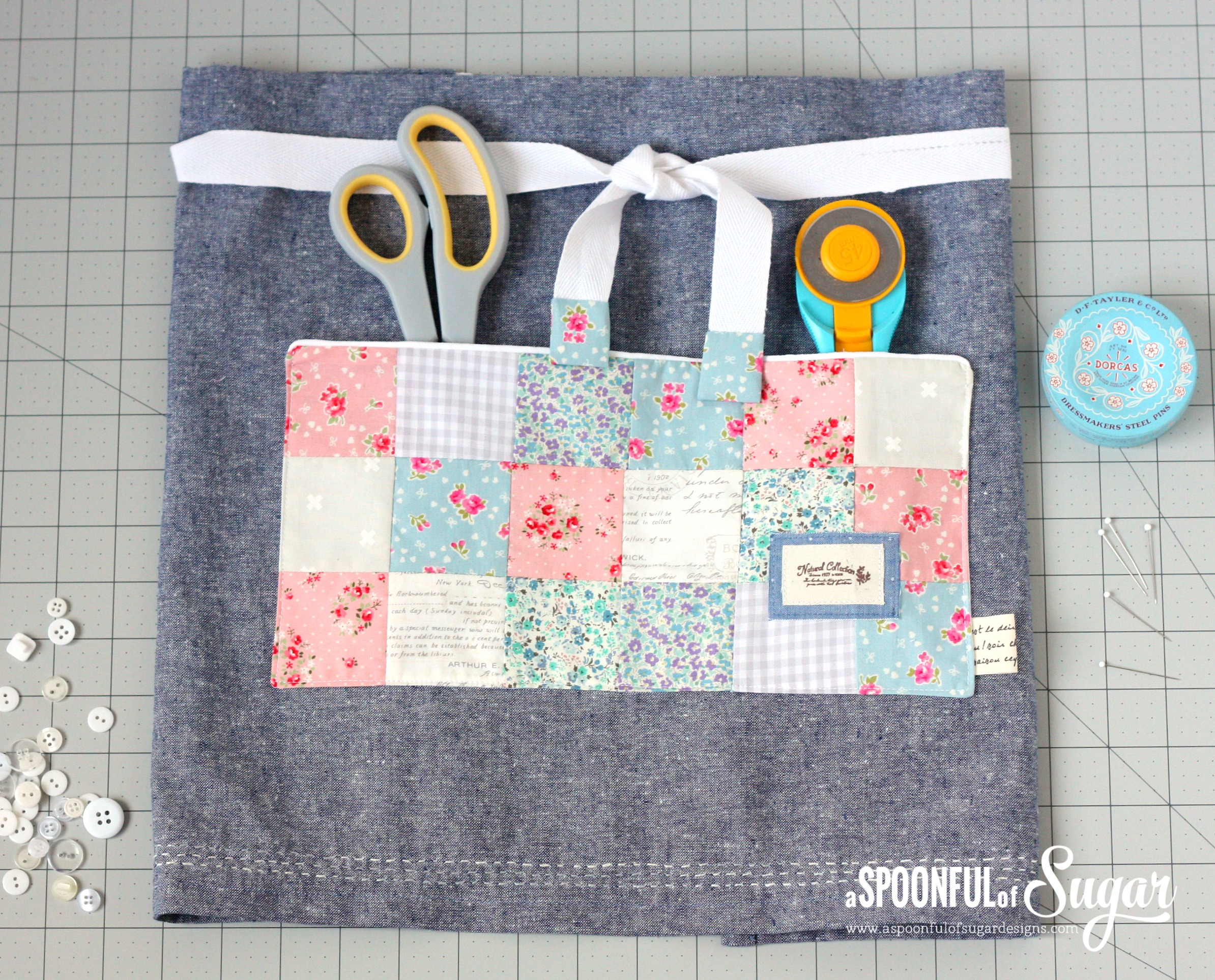 Denim Cafe Apron from A Spoonful of Sugar (book)