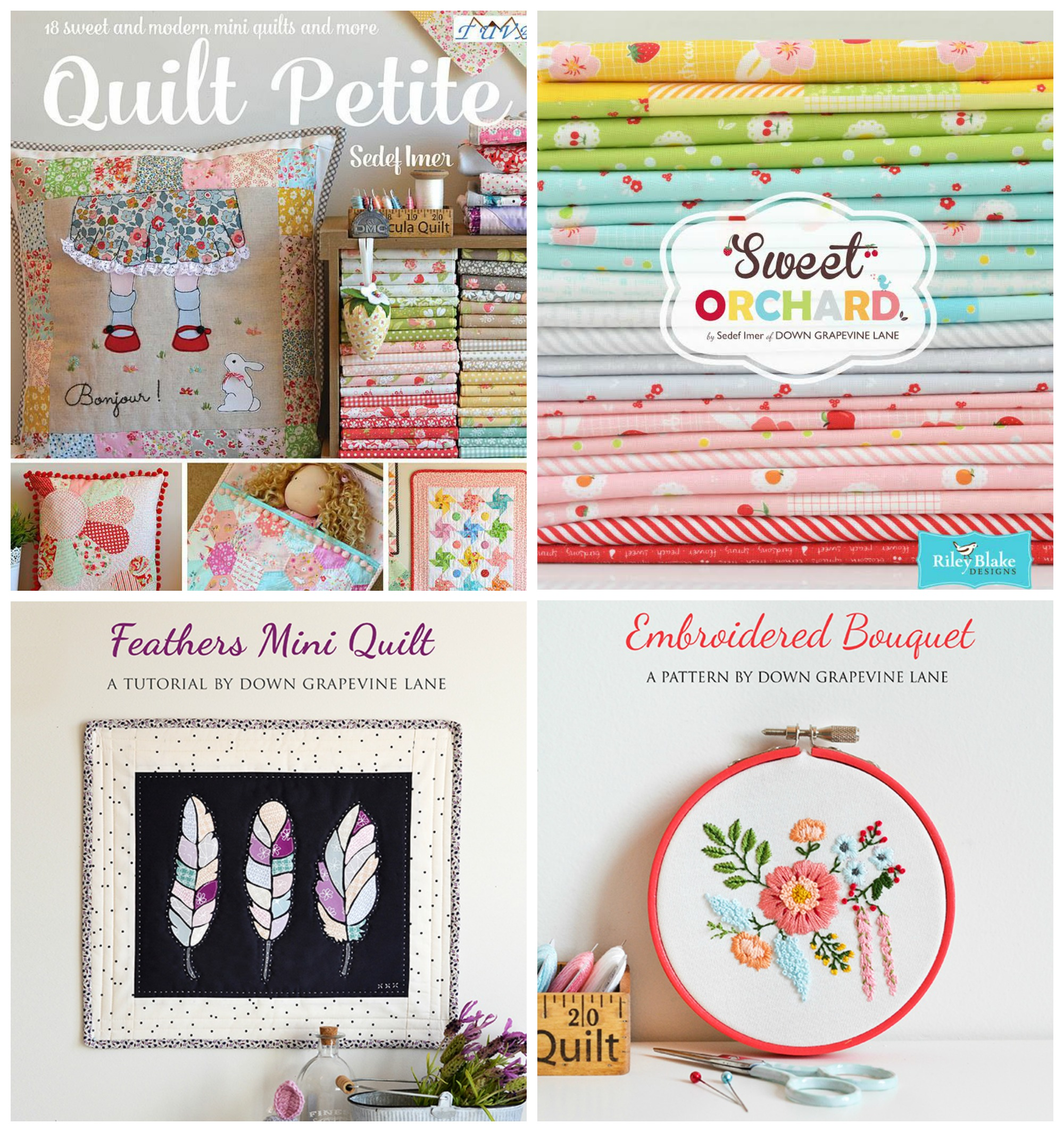 Tutorials, Sweet Orchard Fabric and Quilt Petite by Down Grapevine Lane