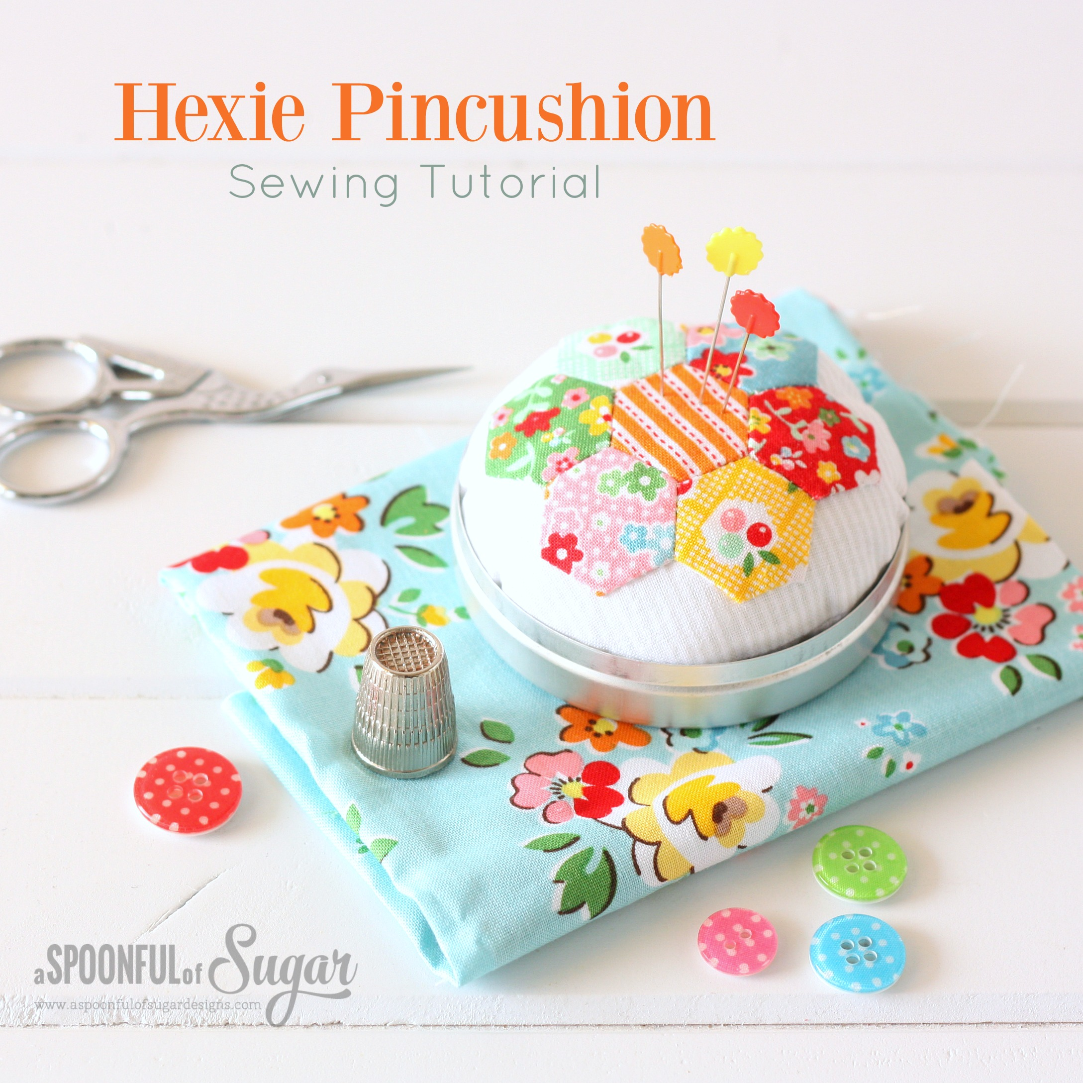 Hexie Pincushion Sewing Tutorial