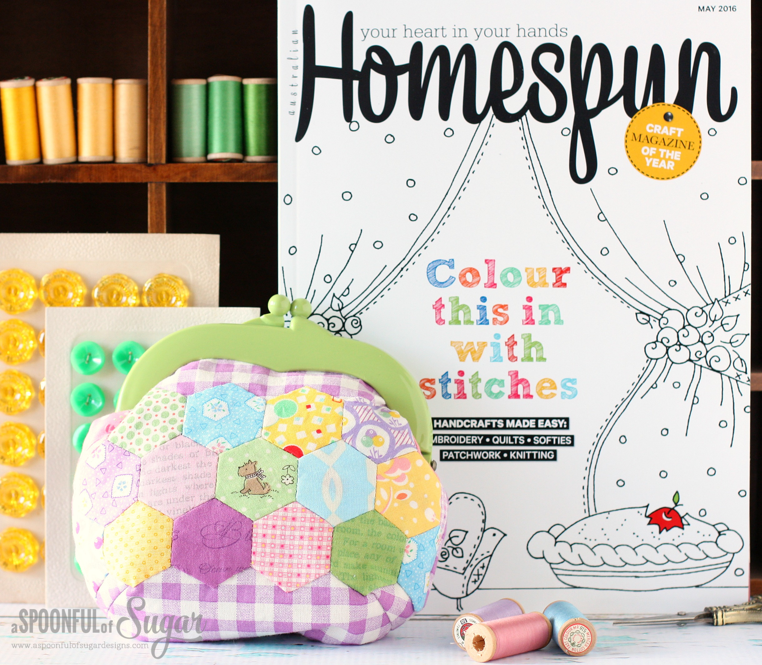 Homespun Magazine May 2016 - Jelly Clip Purse Patterns