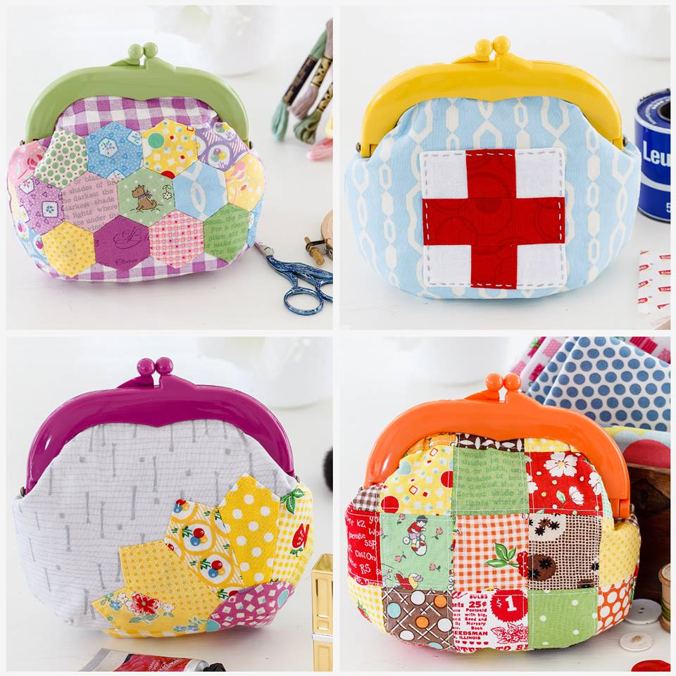 Homespun May 2016 - Jelly Clip Purses