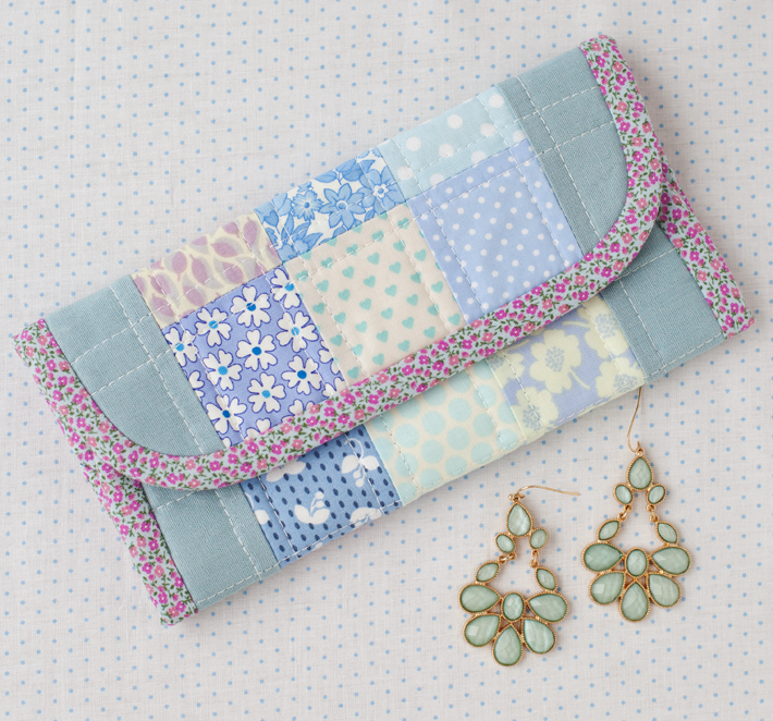 Pretty Patchwork Jewellery Wrap - A Spoonful of Sugar Blog Tour