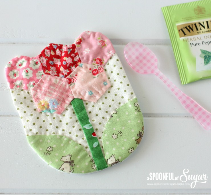 Floral Coaster from Quilted Bags and Gifts by Akemi Shibata