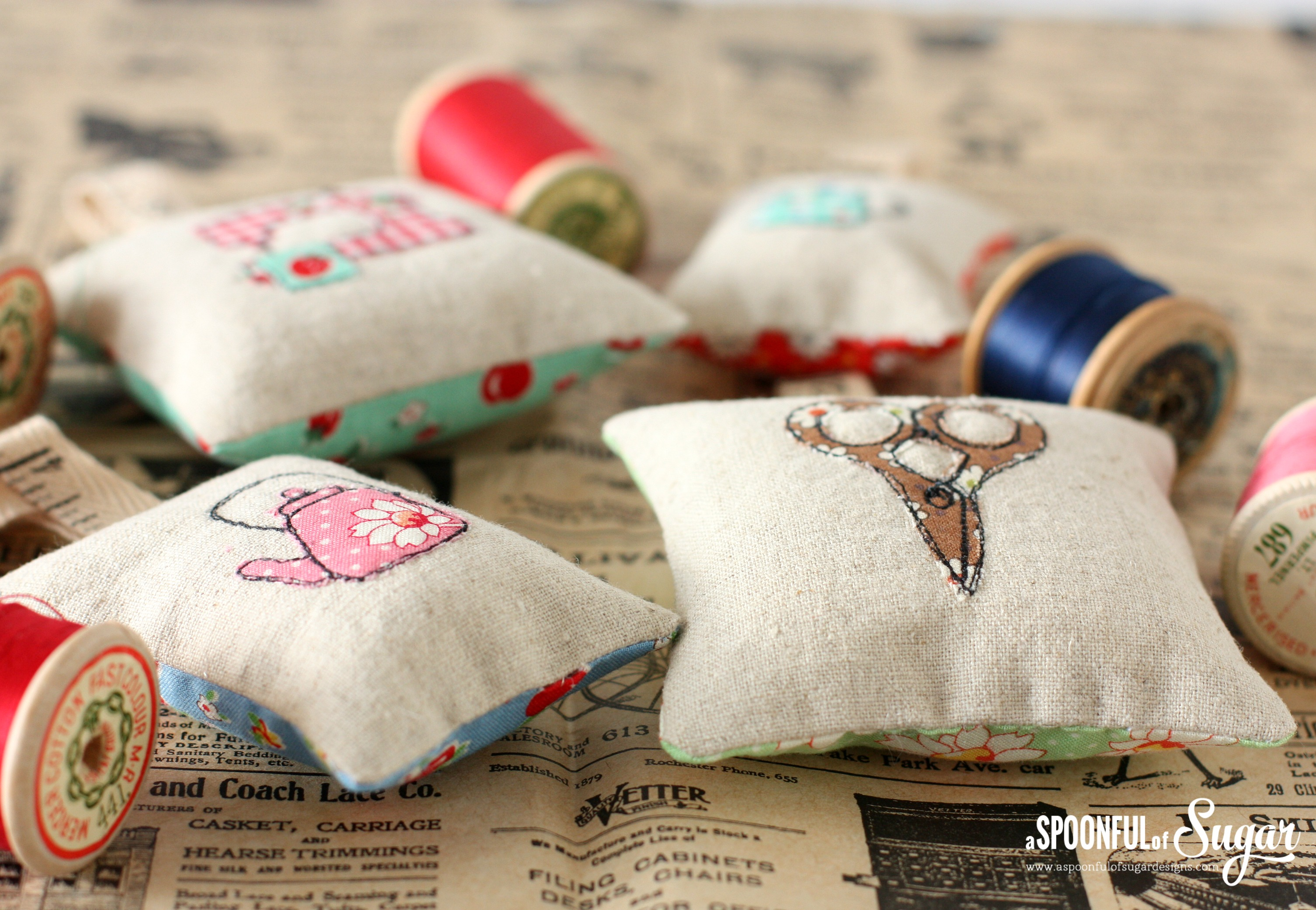 Pincushions from Sew Illustrated, 35 Charming Fabric and Thread Designs, by Minki Kim and Kristin Esser