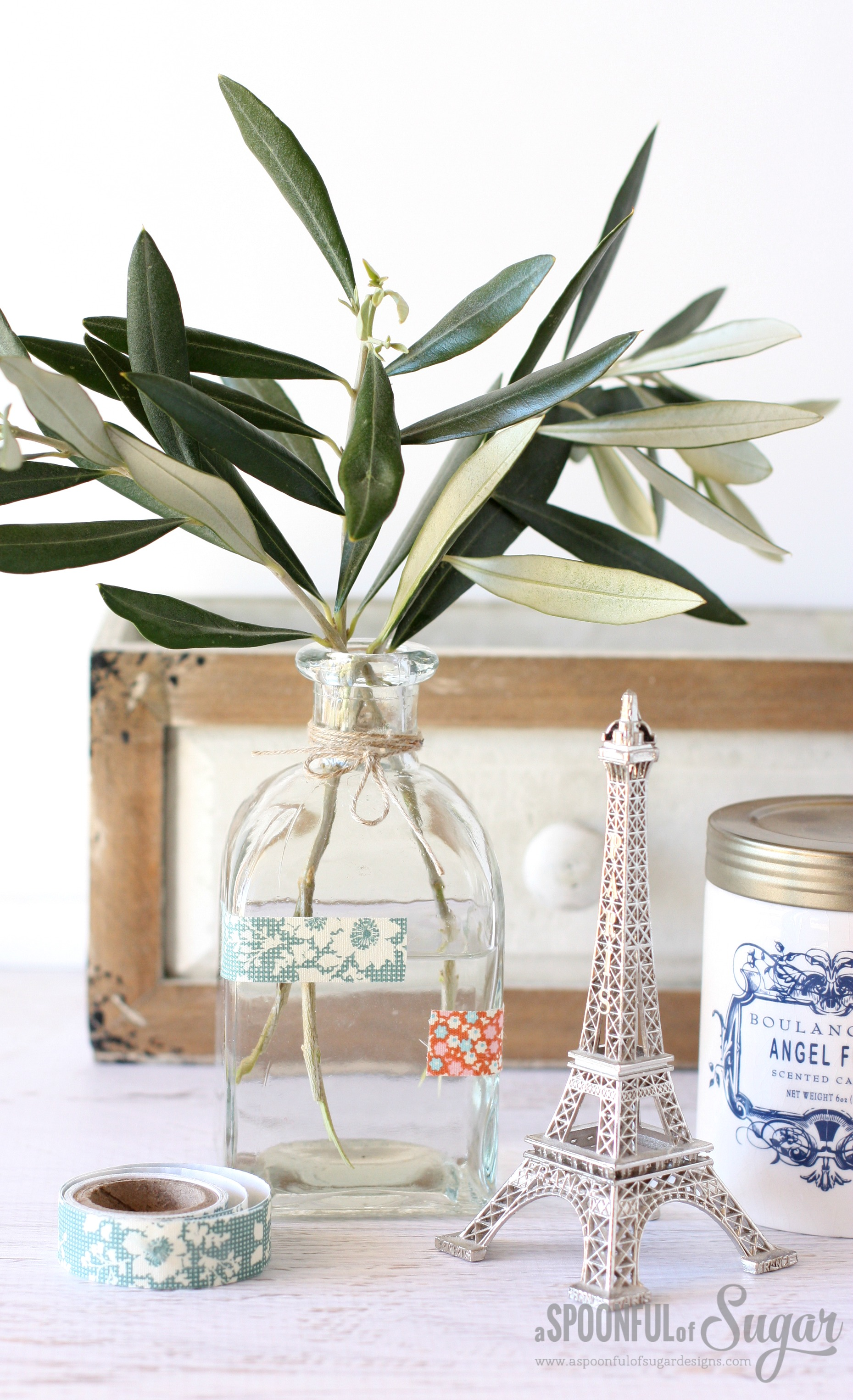 Decorate glass jars and bottles with Fabric Tape