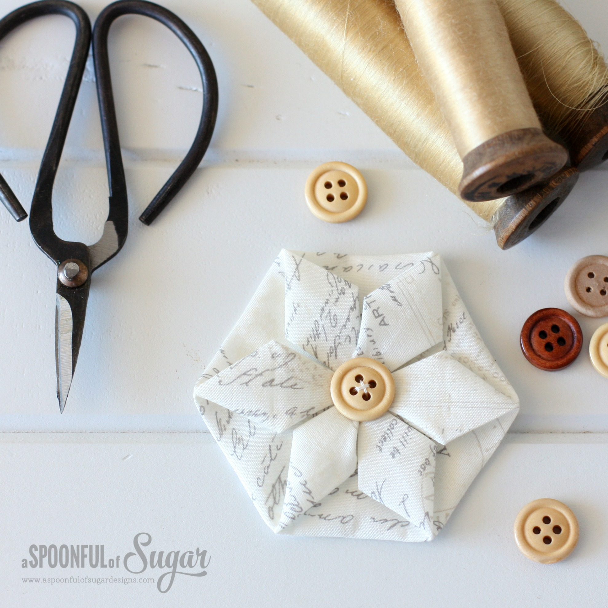 Folded Hexagon Ornament from A Spoonful of Sugar
