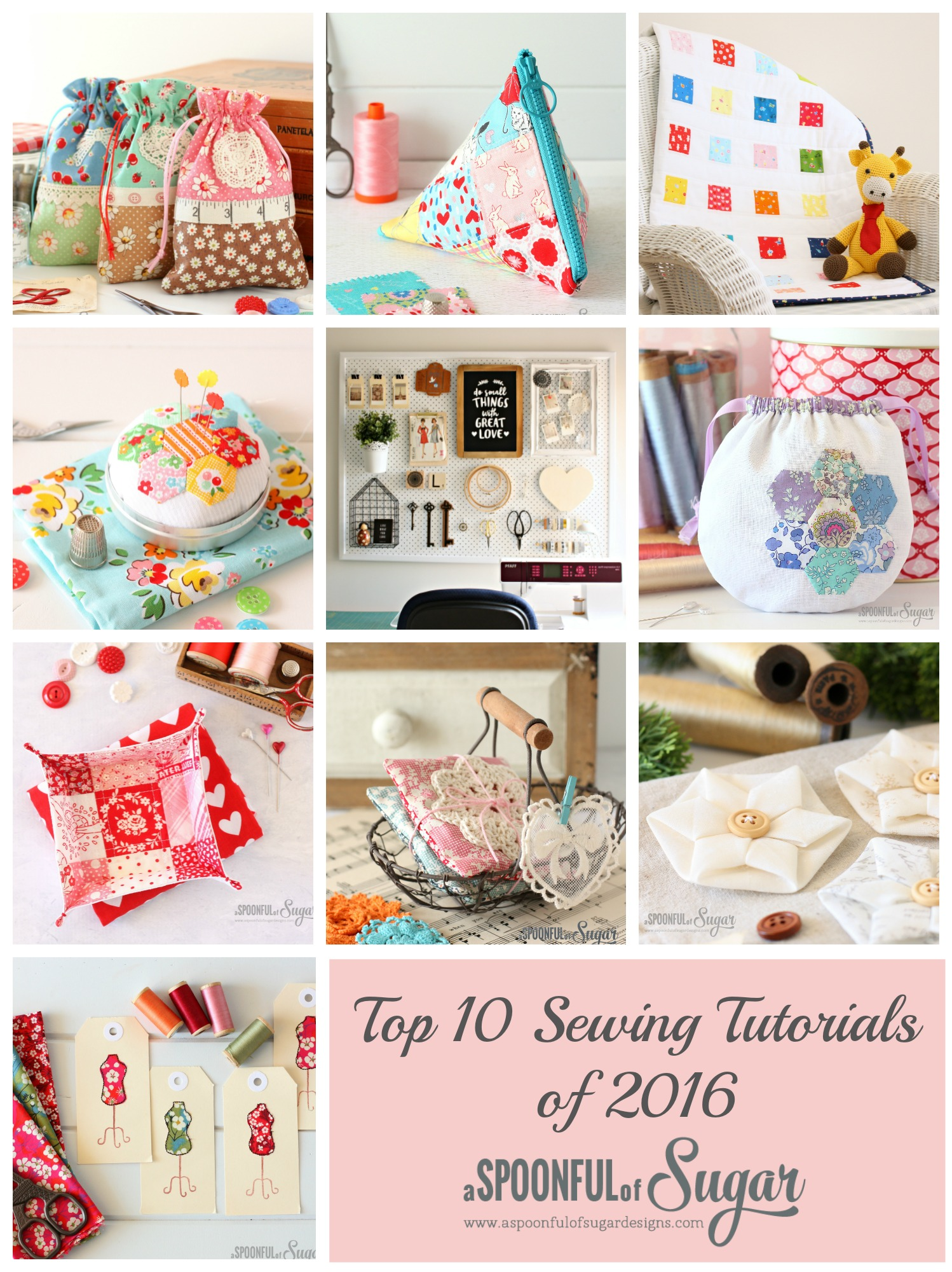 Top Sewing Tutorials from 2016 - A Spoonful of Sugar - www.aspoonfulofsugardesigns.com