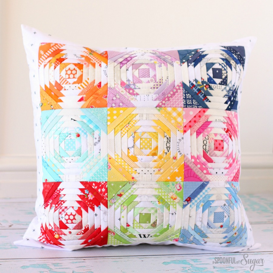 Rainbow Connection Pillow ePattern by A Spoonful of Sugar on Etsy and Craftsy