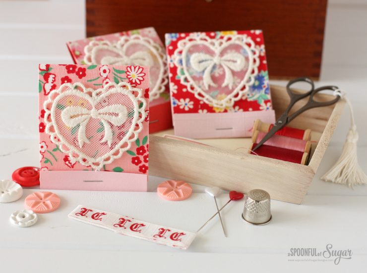 Valentines Matchbook Needle Holder Tutorial by A Spoonful of Sugar www.aspoonfulofsugardesigns.com
