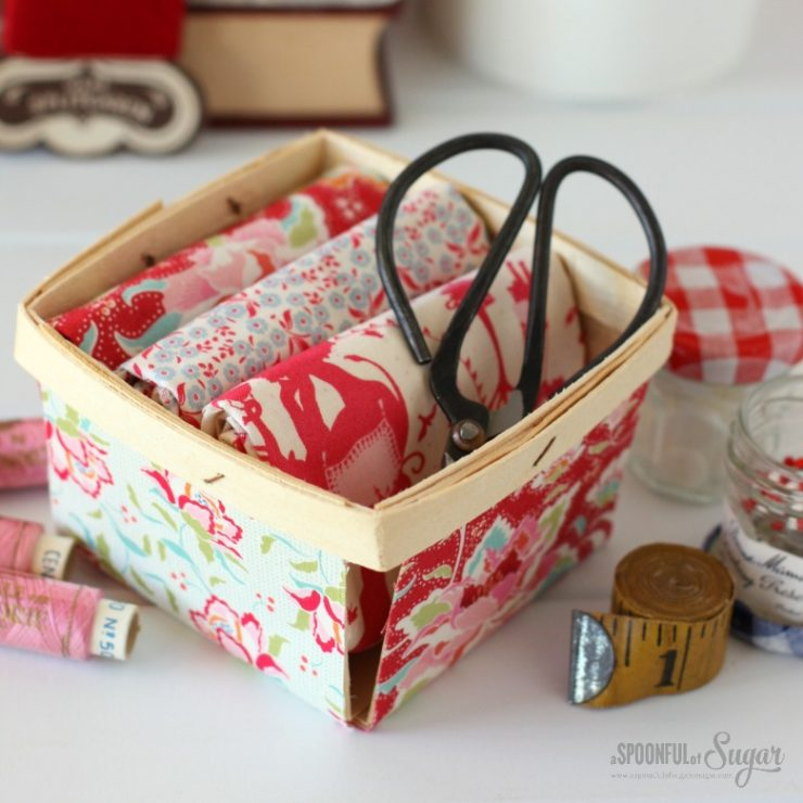 Fabric Covered Berry Box by A Spoonful of Sugar