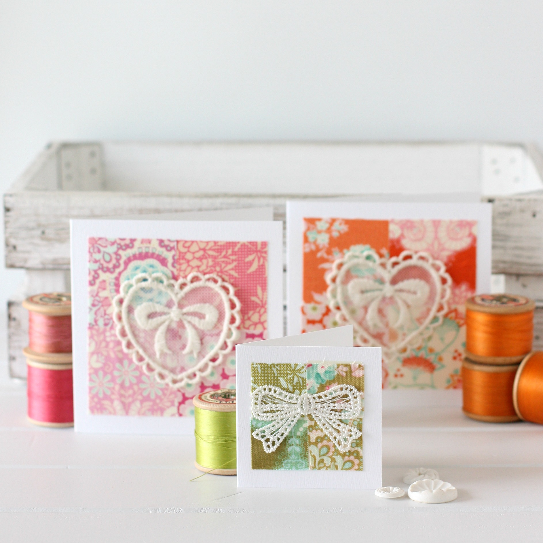 Happy Scrappy Cards Tutorial by A Spoonful of Sugar