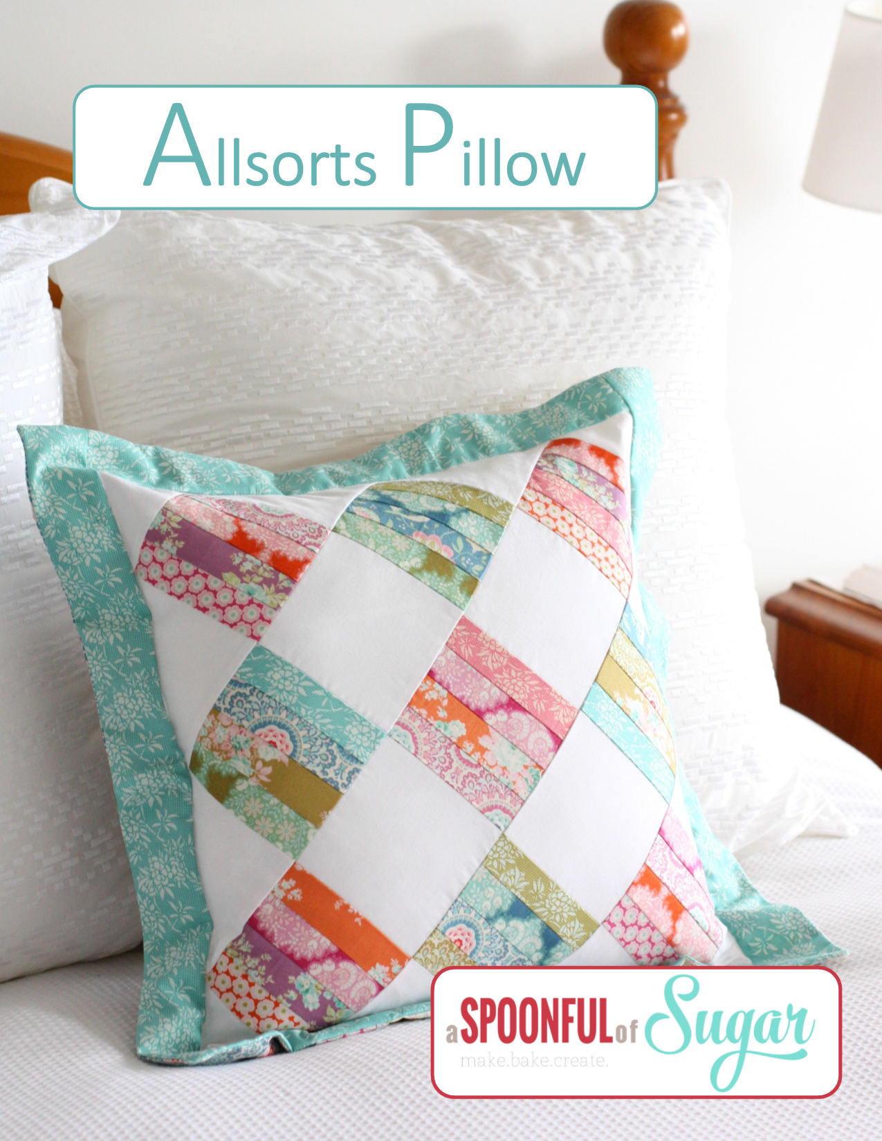 Allsorts Pillow Pattern by A Spoonful of Sugar