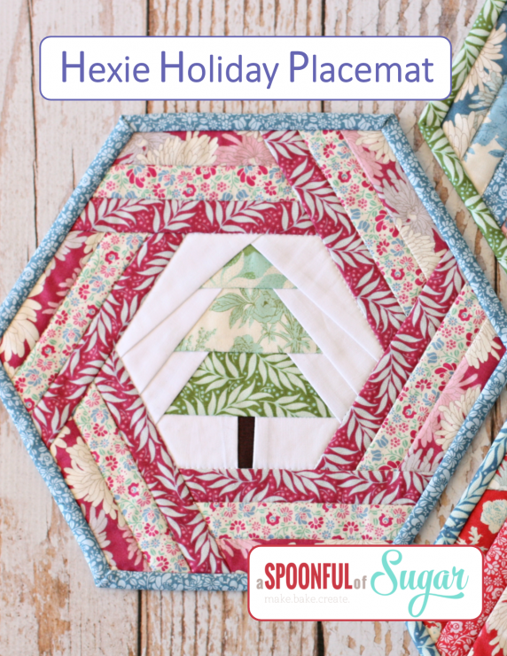 Hexie Holiday Placemat PDF Sewing Pattern by A Spoonful of Sugar (Etsy)