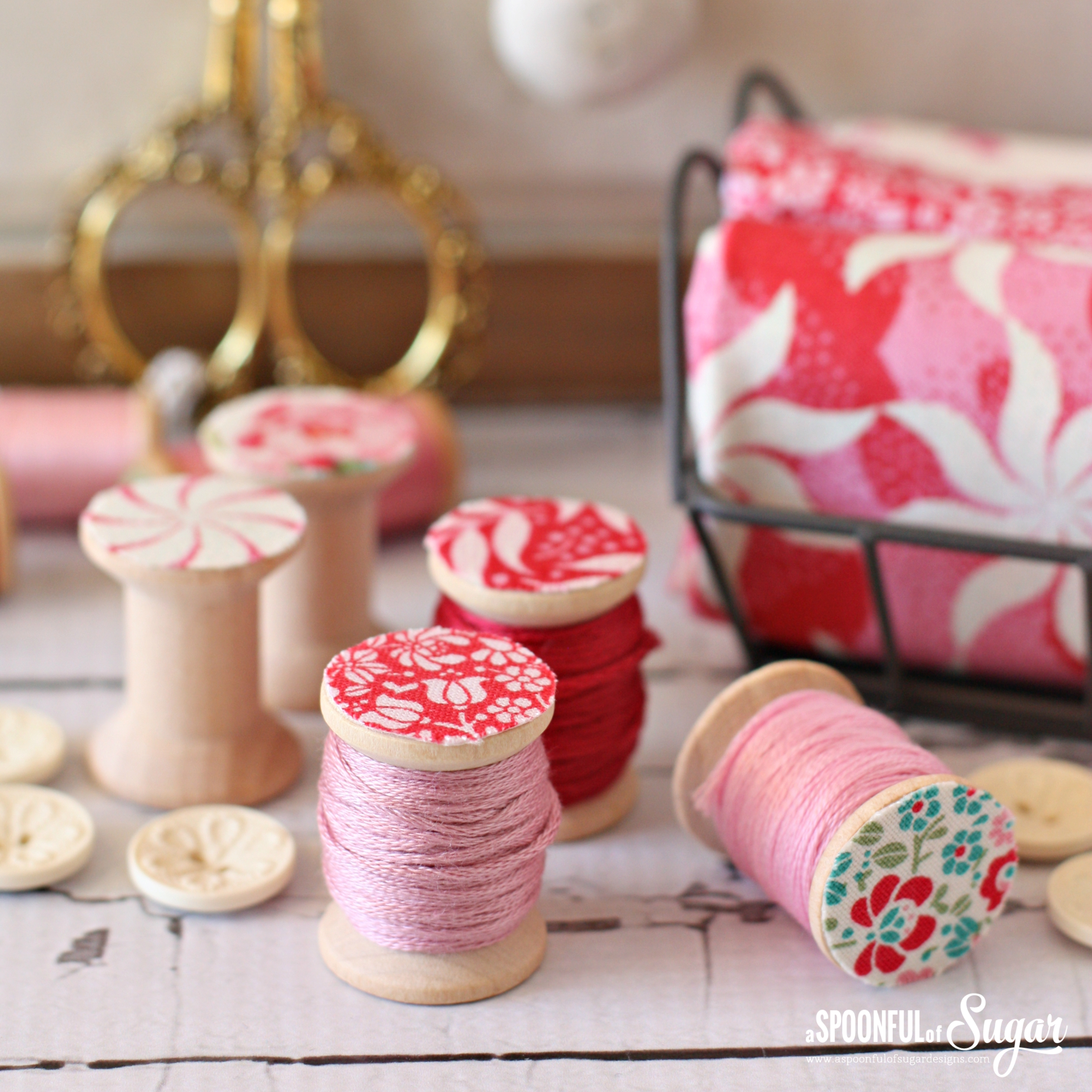 Fabric covered bobbins