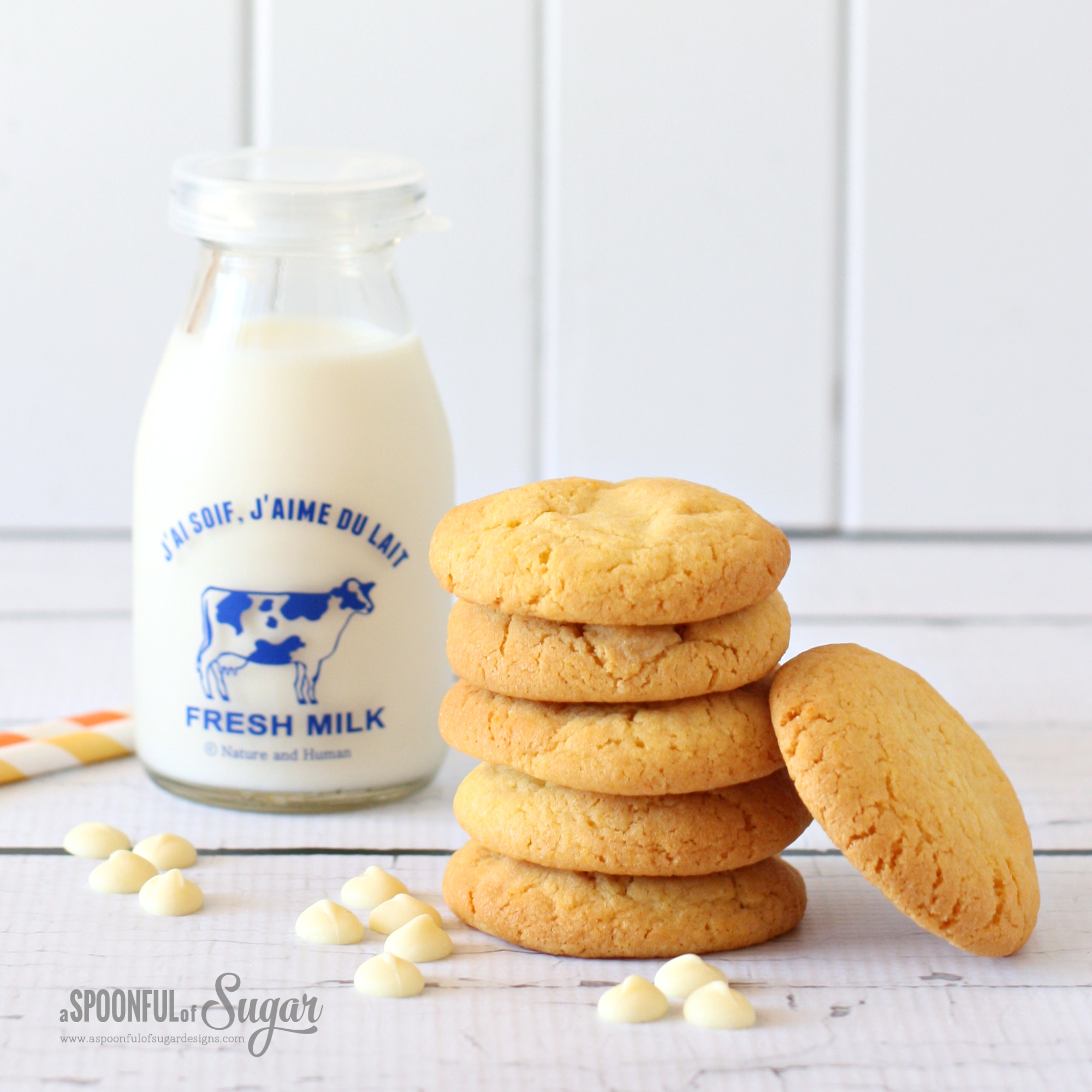 Custard and White Chocolate Cookies