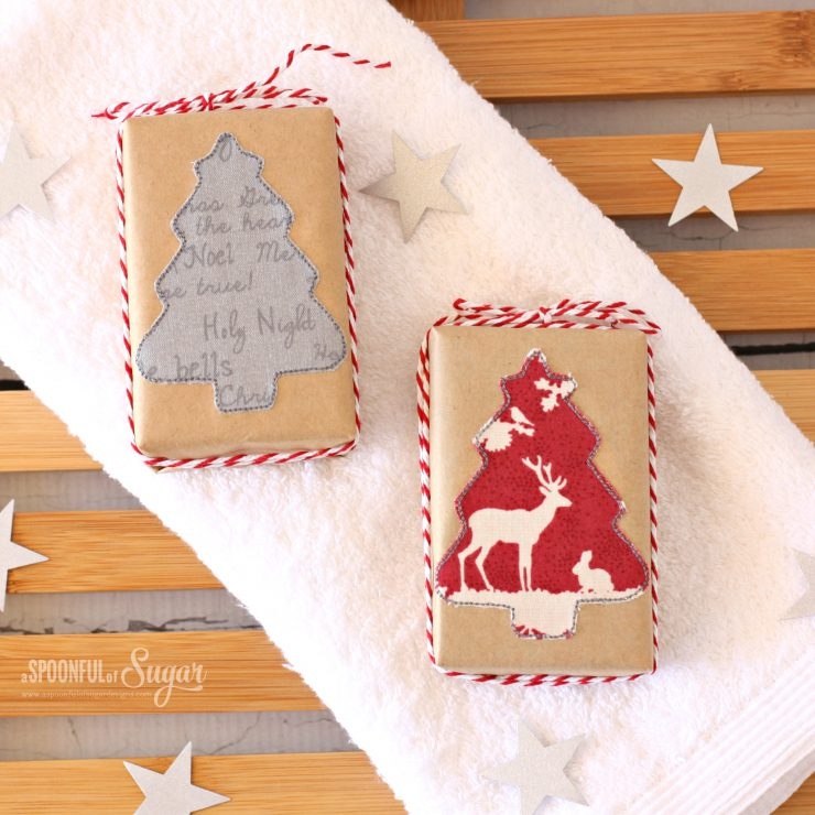 Festive Soaps - Christmas project by A Spoonful of Sugar  www.aspoonfulofsugardesigns.com