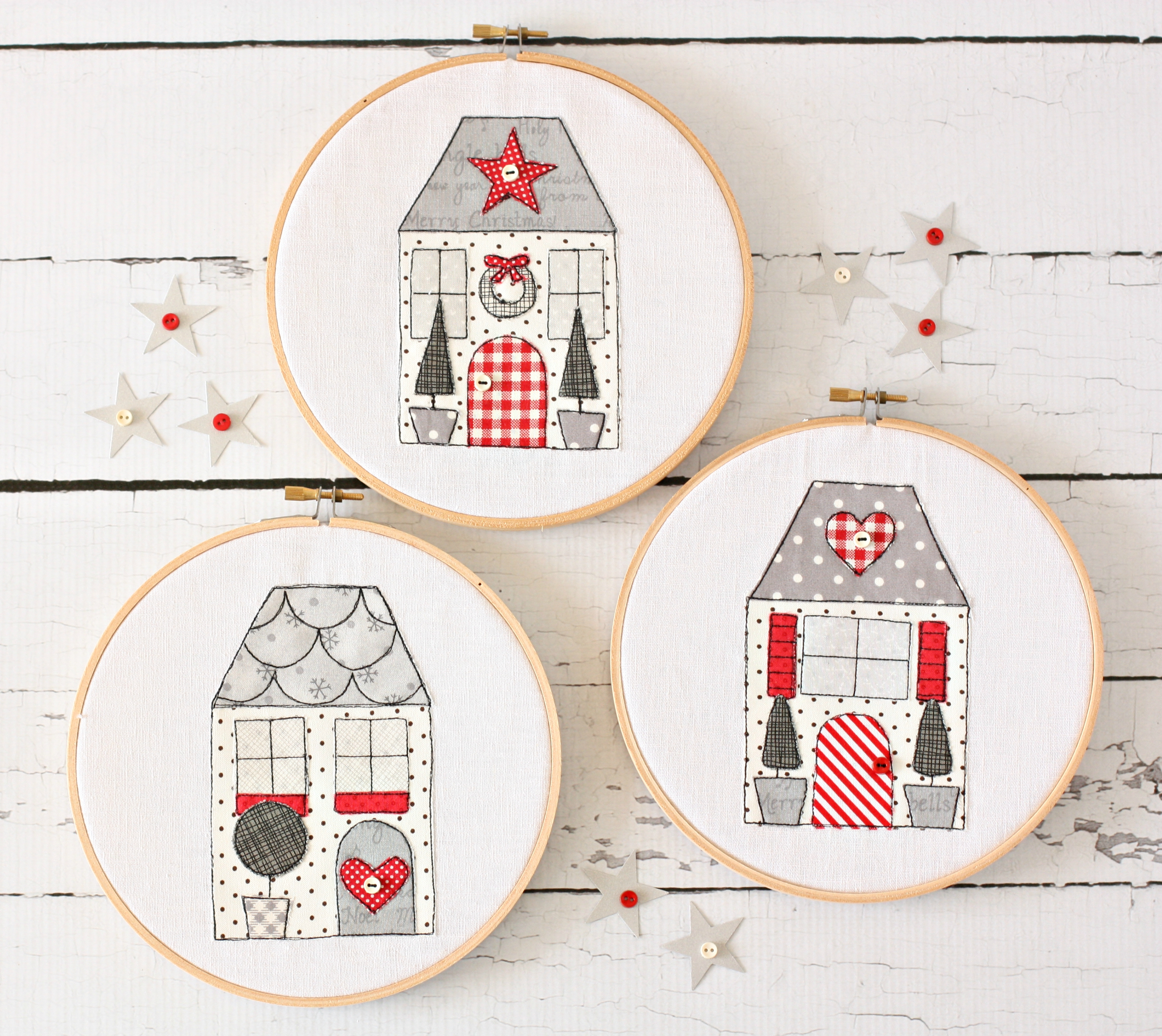 Yuletide Cottages PDF Sewing Pattern from A Spoonful of Sugar www.etsy.com/shop/aspoonfullofsugar