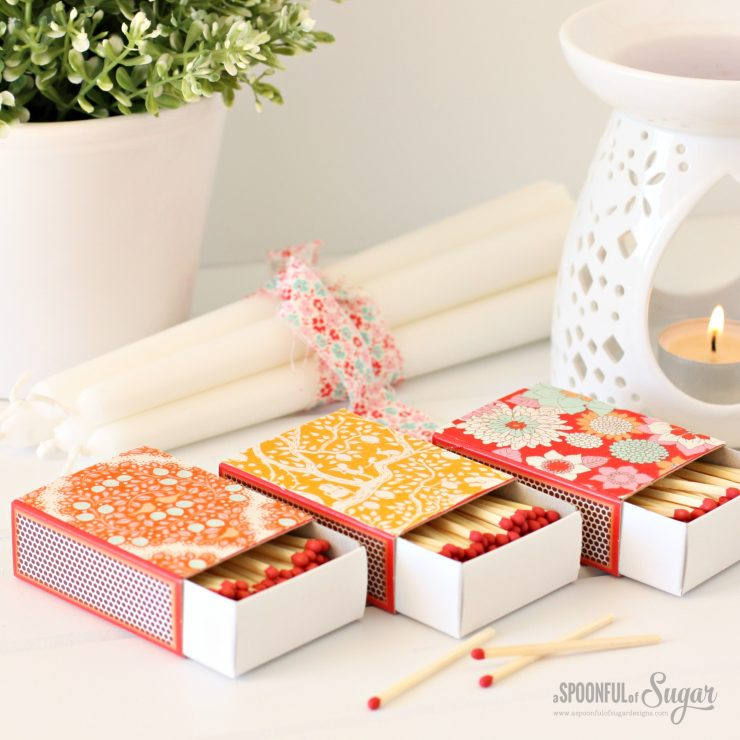Fabric Covered Matchboxes by A Spoonful of Sugar  www.aspoonfulofsugardesigns.com