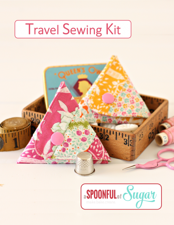 Travel Sewing Kit pdf sewing pattern by www.aspoonfulofsugardesigns.com