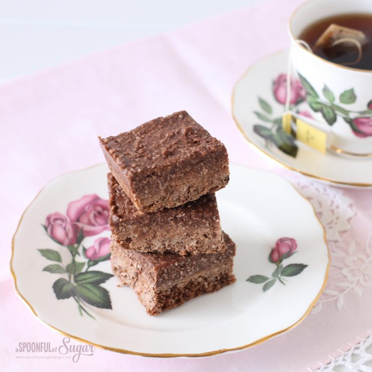 Chocolate Rough Slice Recipe by A Spoonful of Sugar