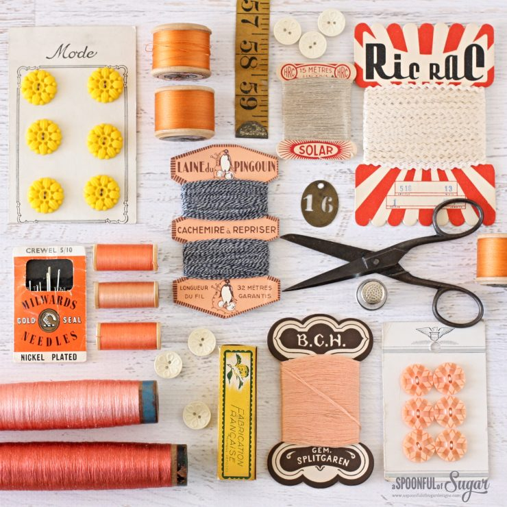 Vintage Haberdashery by A Spoonful of Sugar