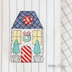 Yuletide Cottage Tea Towel