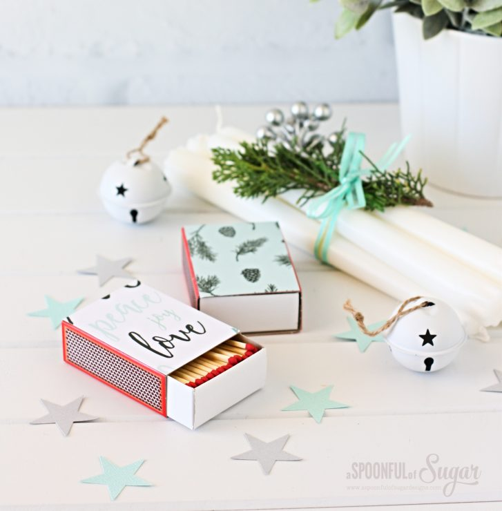 Christmas Matchboxes by A Spoonful of Sugar  www.aspoonfulofsugardesigns.com