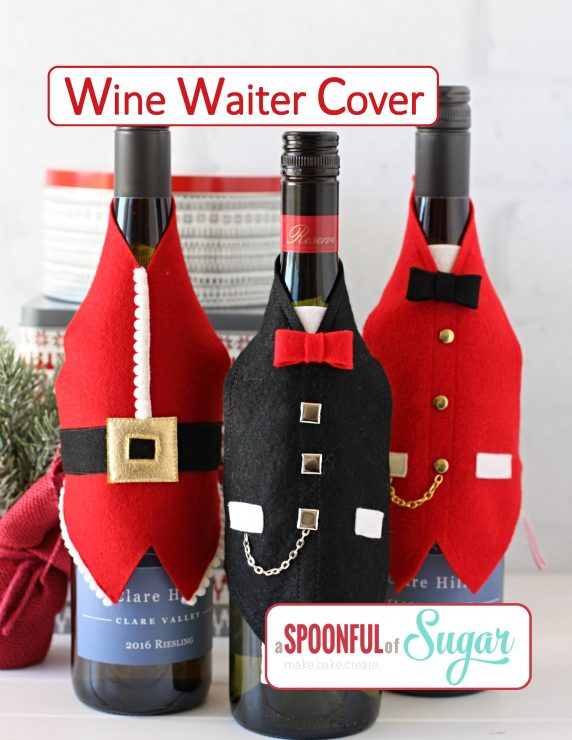 Wine Waiter Cover pdf sewing pattern by A Spoonful of Sugar on Etsy