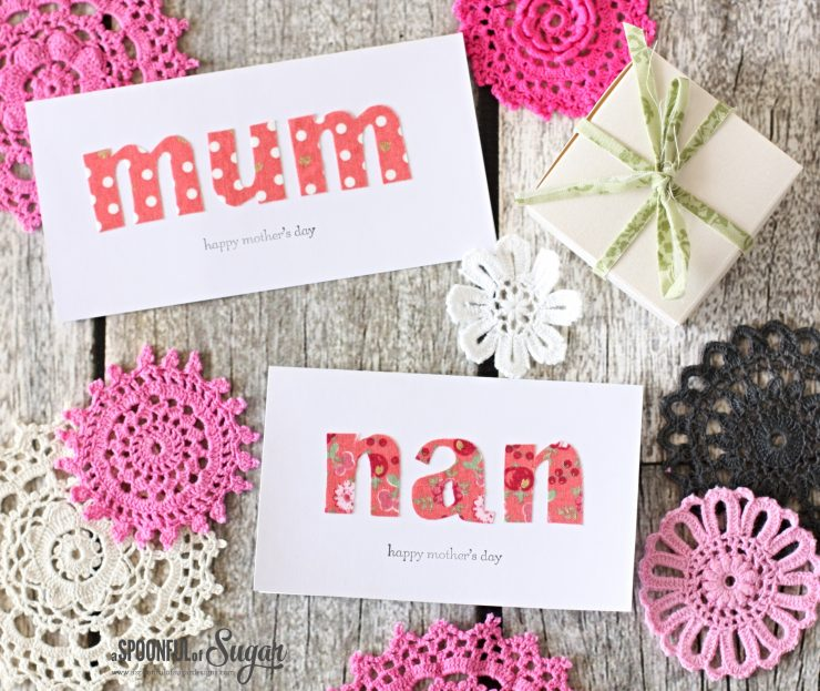 Fabric Mothers Day Cards