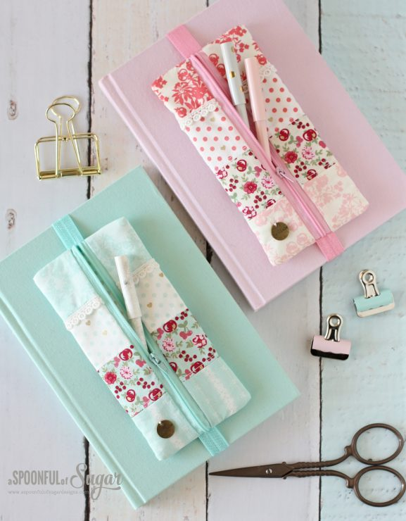 Elastic Pencil Case PDF Sewing Pattern by A Spoonful of Sugar on Etsy
