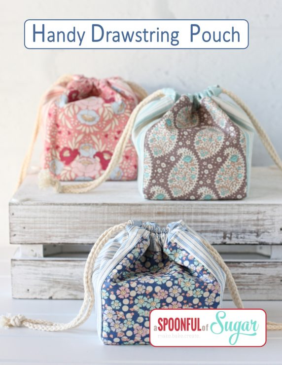 Handy Drawstring Bag PDF Sewing Pattern.