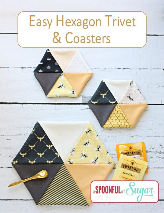 Easy Hexagon Trivet and Coasters