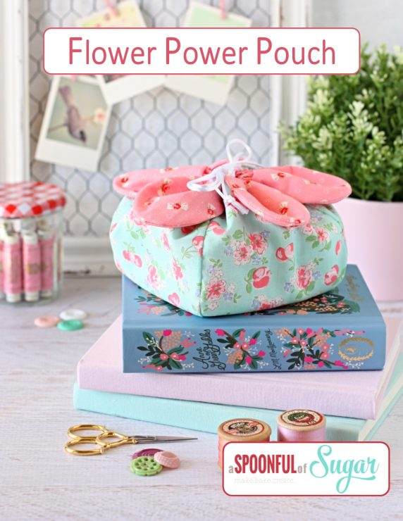 Flower Power Pouch PDF Sewing Pattern by A Spoonful of Sugar