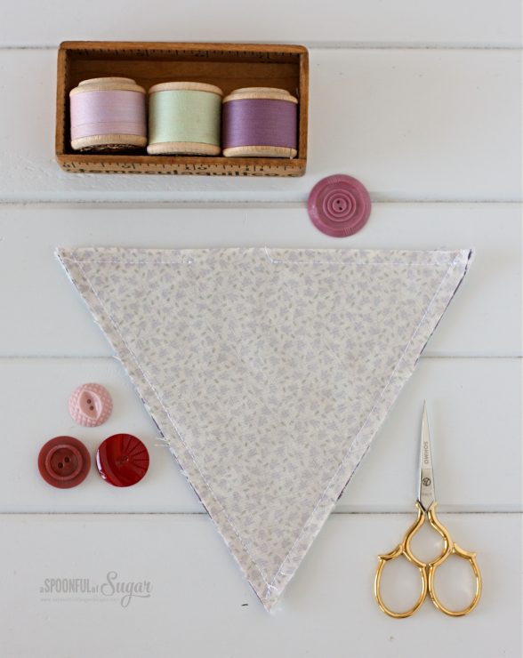 Triangle Tray sewing tutorial by A Spoonful of Sugar Designs.