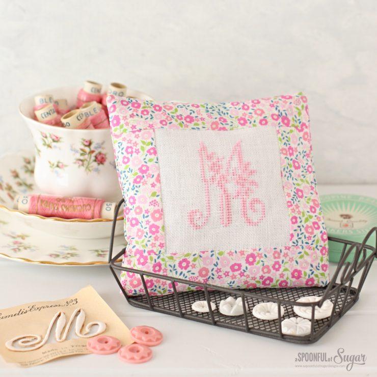 Monogrammed Lavender Pillows