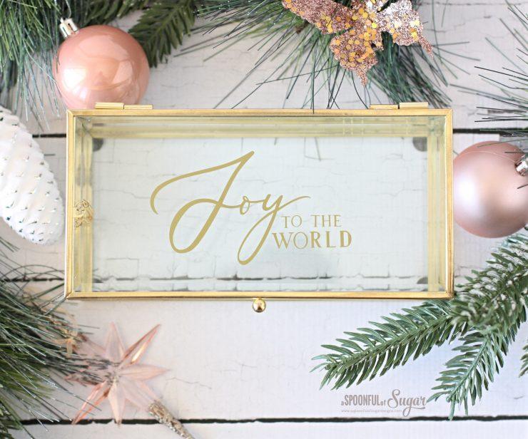 Joy to the World Christmas Box