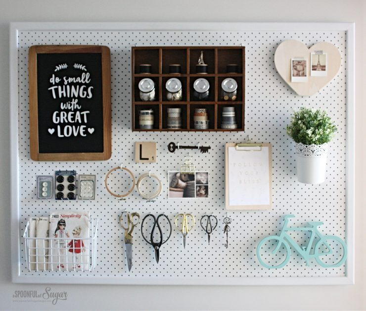 Pegboard - Sewing studio by A Spoonful of Sugar Designs