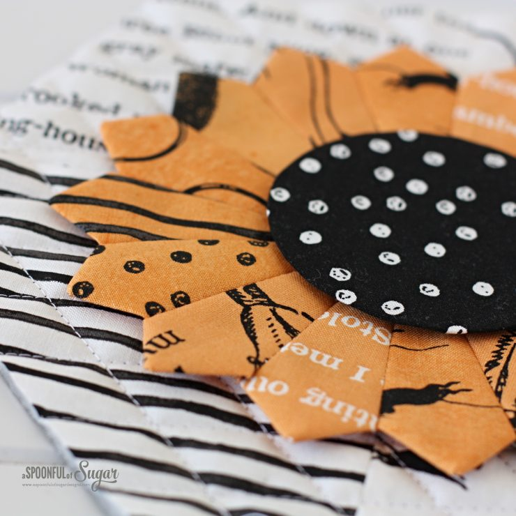 Halloween Dresden Placemat made using ePattern from A Spoonful of Sugar Designs.