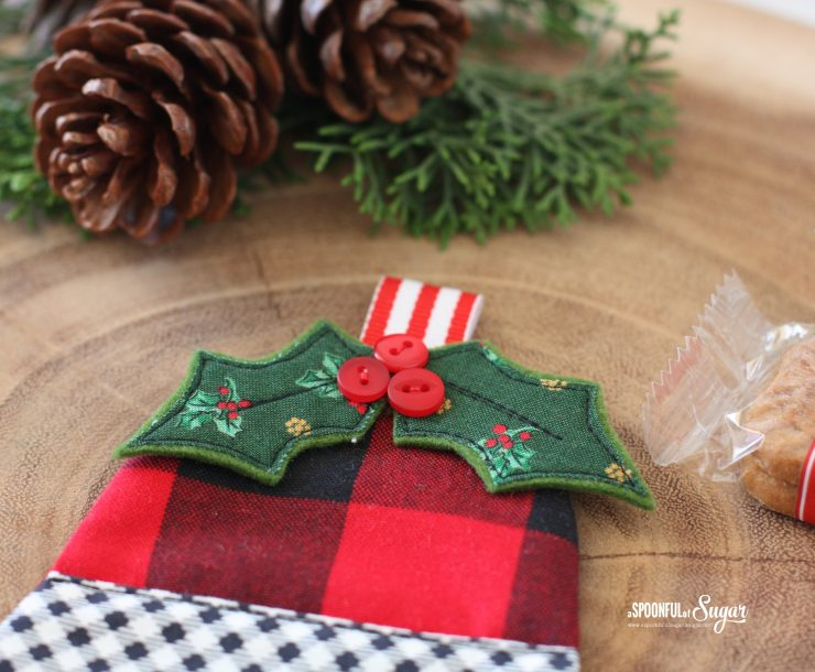Jingle Bell Coaster PDF Sewing Pattern by A Spoonful of Sugar Designs. Pattern available in Etsy store.