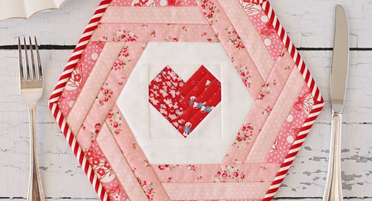 Hexie Heart Placemat