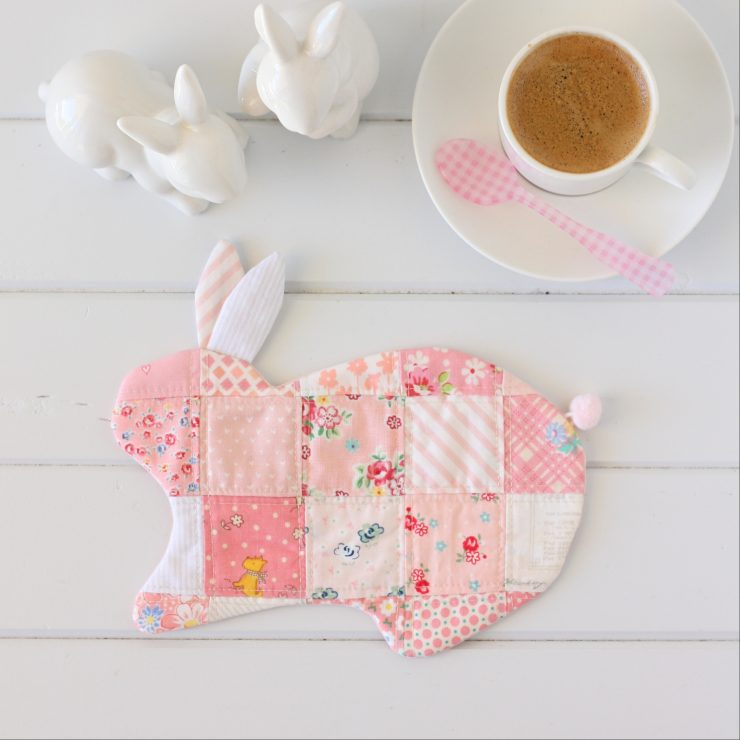 Bunny Coaster PDF Sewing Pattern by A Spoonful of Sugar on Etsy