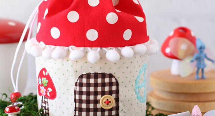 Mushroom House Pouch