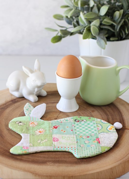 Bunny coaster by A Spoonful of Sugar Designs