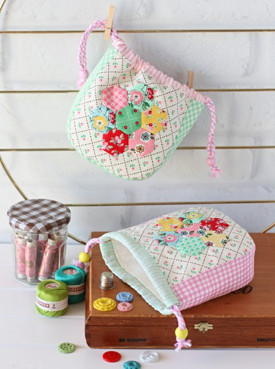 Hexie Garden Pouch PDF Sewing Pattern by A Spoonfull of Sugar on Etsy