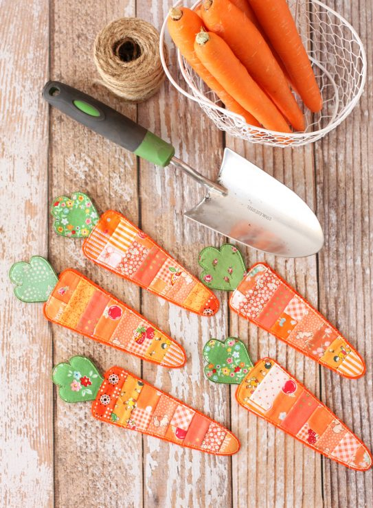 Scrappy Carrot Bunting by A Spoonful of Sugar Designs