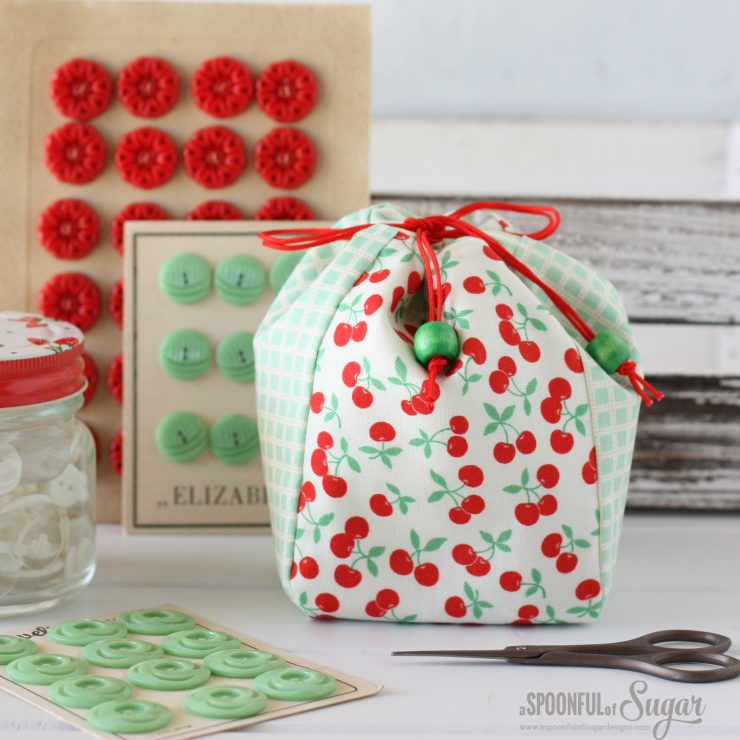 Handy Drawstring Bag PDF Sewing Pattern by A Spoonful of Sugar Designs - available in 3 sizes
