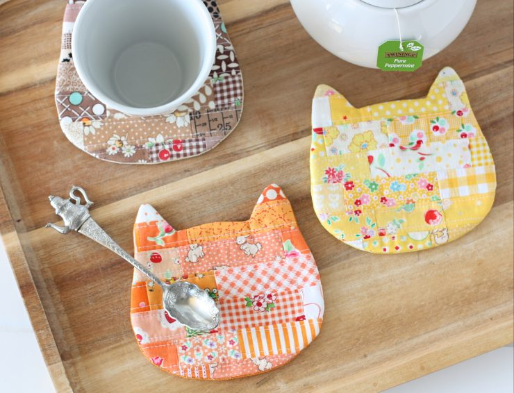 Cosy Cat Coaster perfect for cat lovers everywhere! Pattern available in A Spoonful of Sugar Designs Pattern Shop
